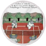 Babar The Elephant, 1930s Round Beach Towel