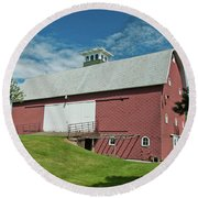 Round Beach Towel featuring the photograph Babcock Barn 2263 by Guy Whiteley