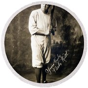 Babe Ruth 1920 Round Beach Towel