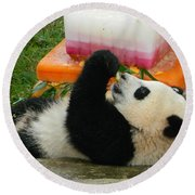 Baby Bao Bao's First Birthday Round Beach Towel by Emmy Marie Vickers