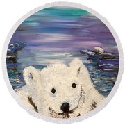Baby Bear Round Beach Towel