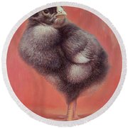 Baby Chick Round Beach Towel