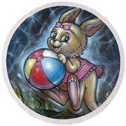 Baby Kangaroo 150911 Round Beach Towel