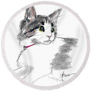 Baby Kitten Round Beach Towel