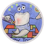 Baby Tooth Round Beach Towel