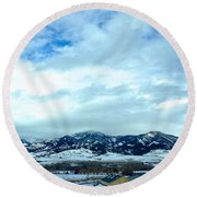 Back In Bozeman Round Beach Towel