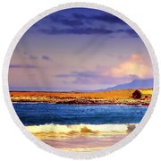 Round Beach Towel featuring the photograph Back Paddock by Wallaroo Images