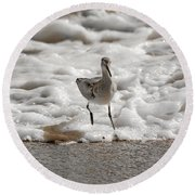Back To Safety  Round Beach Towel