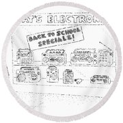 'back To School Specials!' Round Beach Towel