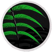 Backyard Abstract Round Beach Towel