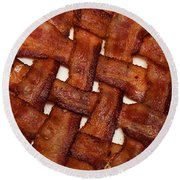 Bacon Weave Round Beach Towel by Andee Design