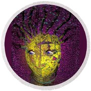 Bad Hair Day Round Beach Towel by Irma BACKELANT GALLERIES