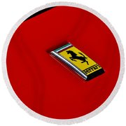 Round Beach Towel featuring the photograph Badge In Red by Dean Ferreira