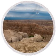 Badlands South Dakota Round Beach Towel