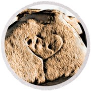 Badlands Love Round Beach Towel
