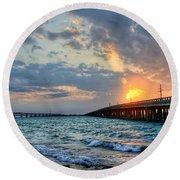 Bahia Honda Sunset Round Beach Towel