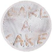 Bake A Cake Round Beach Towel