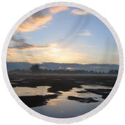 Bakersfield Sunrise Round Beach Towel