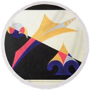 Balancing Act Round Beach Towel by Ron Davidson