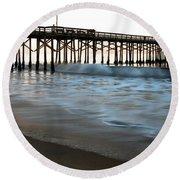 Balboa Pier  Round Beach Towel