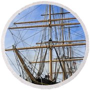 Round Beach Towel featuring the photograph Balclutha by Kate Brown
