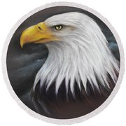 Bald Eagle Round Beach Towel by Patricia Lintner