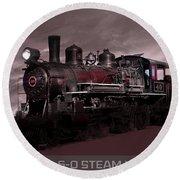 Baldwin 4-6-0 Steam Locomotive Round Beach Towel