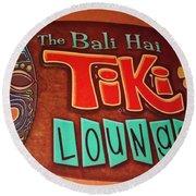Bali Hai Tiki Lounge Pontchartrain Beach Round Beach Towel