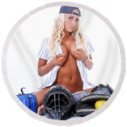 Ball Girl Round Beach Towel