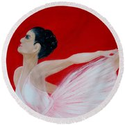 Ballerina.  Grace. Inspirations Collection Round Beach Towel