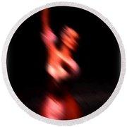 Ballet Blur 4 Round Beach Towel
