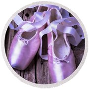 Ballet Slippers Round Beach Towel