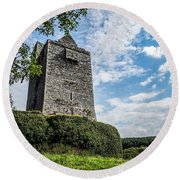 Ballinalacken Castle In Ireland's County Clare Round Beach Towel
