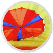 Round Beach Towel featuring the photograph Balloon Fantasy   1 by Allen Beatty