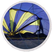 Round Beach Towel featuring the photograph Balloon Fantasy 4 by Allen Beatty