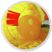 Round Beach Towel featuring the photograph Balloon Fantasy 6 by Allen Beatty