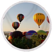 Balloon Festival Round Beach Towel