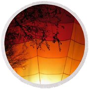 Balloon Glow Round Beach Towel