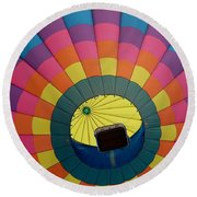 Balloon Lift-off  Round Beach Towel by Patrick Shupert