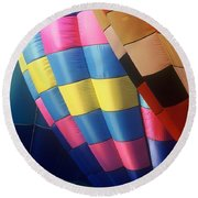 Round Beach Towel featuring the photograph Balloon Patterns by Rodney Lee Williams
