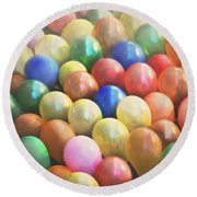 Balloons Round Beach Towel by Cindy Garber Iverson