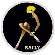 Bally Shoes Round Beach Towel by Doc Braham