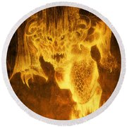 Balrog Of Morgoth Round Beach Towel