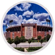 Baltimore Memorial Stadium 1960s Round Beach Towel