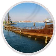 Round Beach Towel featuring the photograph Baltimore Museum Of Industry by Brian Wallace