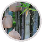 Bamboo Bells Round Beach Towel