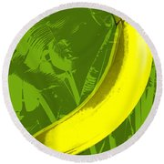 Banana Pop Art Round Beach Towel