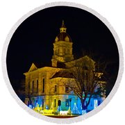 Bandera County Courthouse Round Beach Towel