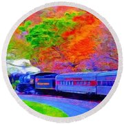 Bang Bang Choo Choo Train-a Dreamy Version Collection Round Beach Towel