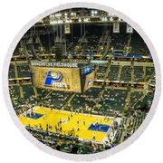 Bankers Life Fieldhouse - Home Of The Indiana Pacers Round Beach Towel